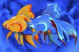 Blue And Orange Fish