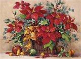 Festive Poinsettia Basket