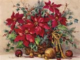 Holiday Poinsettia Basket