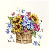 Sunflower Basket I