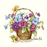 Pansy Basket Miniature