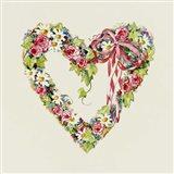 Blue Ribbon Heart Wreath