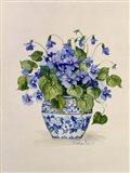 Blue and White Porcelain Violets