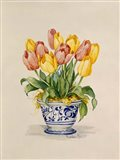 Blue and White Porcelain Tulips