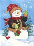 Fur Coat Snowman