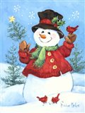 Red Coat Snowman