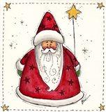Santa Holding A Star Balloon
