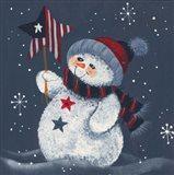 Snowman Holding A Star