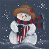 Snowman With Big Heart