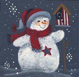 Snowman With Bird House