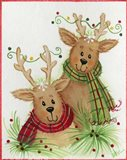 Reindeers With Scarves
