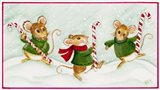 3 Mice With Candy Canes