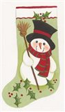 Snowman With Broom Stocking