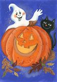 Pumpkin, Ghost & Cat