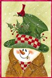 Snowman In Brown And Green