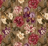 Floral Waltz Textured Scroll Stripe Hazelnut