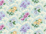Twiggy Scroll Floral Aqua