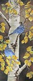 Stellar Jay with Leaves of Gold