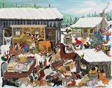 Barnyard Christmas Party