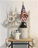 Chair With Jug And Flag