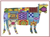 Friendship Quilt Folk Art Cow