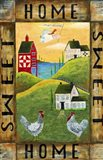 Home Sweet Home Chicken Rooster Angel Flag-