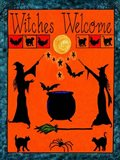 Witches Welcome Spell Flag