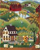 Primitive Quilt Maker House Sunflower