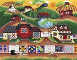 Sunrise Colorful Country Quilt Village