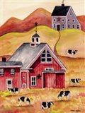Cow Folk Art Barn
