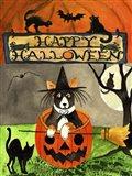 Happy Dog Pumpkin Halloween