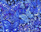 Indigo Butterfly Collage