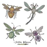 4 Bug Brooches