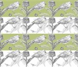 Bird And Thistle Stripe Pattern