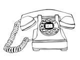 BW Vintage Phone