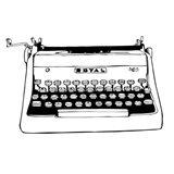 BW Vintage Typewriter