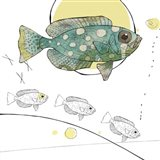 Turquoise Polka Dot Fish