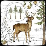 Watercolor Woodlands Deer