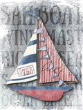 Sailboat Patriotic Nautical