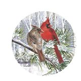 Winter Wonder Cardinal Couple