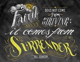 Faith Does Not Come From Striving