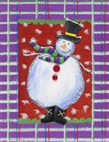 Happy Snowman in Boots