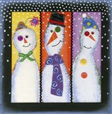 Three Tall Snowmen