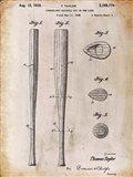 Baseball Bat 2 White Patent