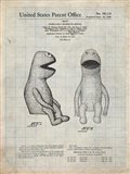 Puppet Doll Patent - Antique Grid Parchment