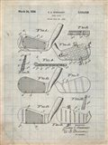Golf Club Patent - Antique Grid Parchment