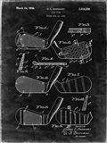 Golf Club Patent - Black Grunge