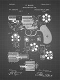 Revolving Fire Arm Patent - Black Grid