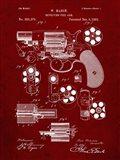 Revolving Fire Arm Patent - Burgundy