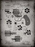 Revolving Fire Arm Patent - Faded Grey